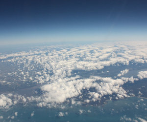 clouds, high, and land image