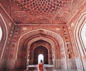 architecture, india, and tajmahal image
