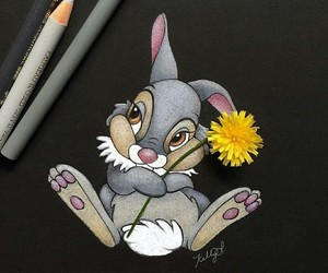 disney, art, and bambi image