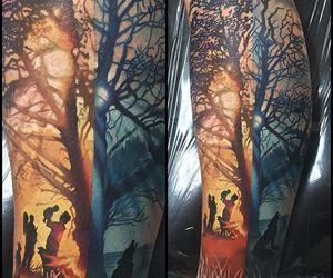 tattoo, nature tattoo, and family tattoo image