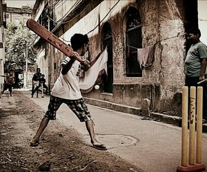 gully cricket and street cricket image