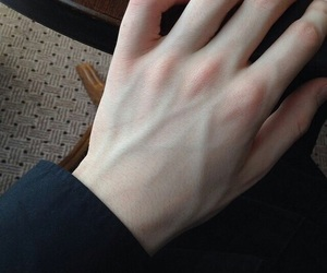 boy, hand, and pale image