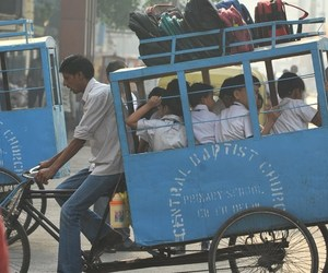 rickshaw and school rickshaw image