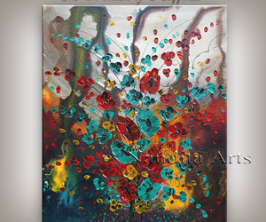 abstract art, largepainting, and etsy image