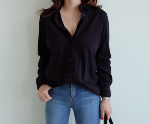 blouse, button down shirt, and clothes image