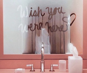 pink, mirror, and quotes image