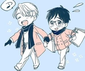 anime, viktor nikiforov, and yaoi image