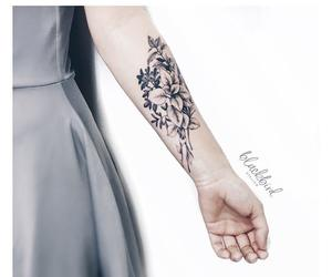 body art, ink, and leaves image