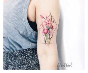 body art, botanic, and floral image