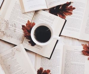 autumn, books, and coffee image