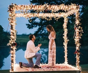 engaged, love, and engagement image