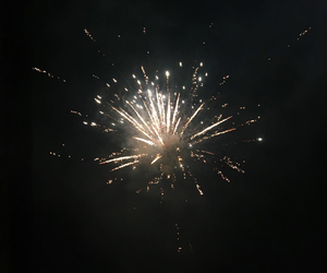 black, fire, and fireworks image
