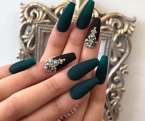 green, jewels, and nails image
