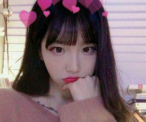 girl, korea, and selfie image