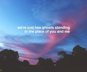 aesthetic, clouds, and Lyrics image
