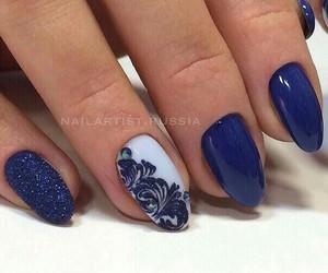 blue, lace, and glitter image