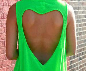 fashion, green, and heart image