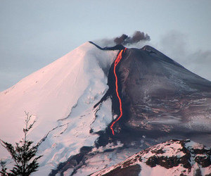 fire, volcano, and nature image