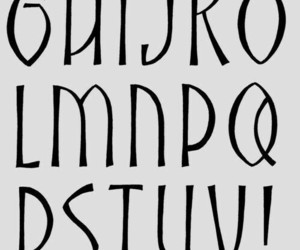 alphabet, fonts, and ideas image