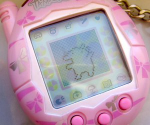 pink, kawaii, and tamagotchi image