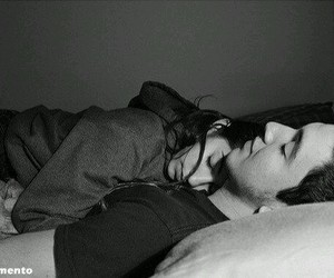 black and white, sleep, and relationship coals image