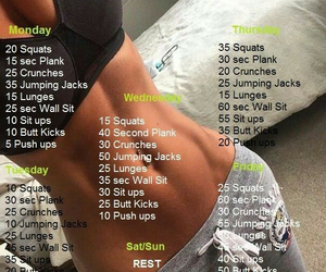 body, flat, and workout image