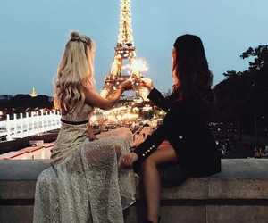 paris, friends, and travel image