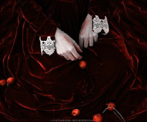 autumn, dress, and hands image