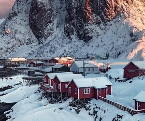 snow, norway, and winter image