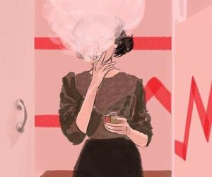 smoke, art, and cigarette image