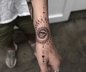 eye, hand, and tats image
