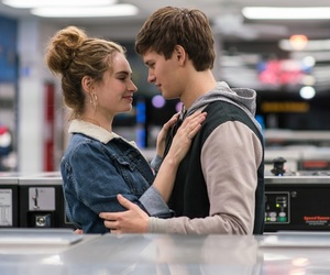 baby driver, lily james, and ansel elgort image