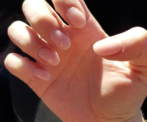 girl, nails, and oval image