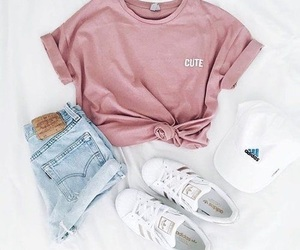 adidas, jeans, and superstar image