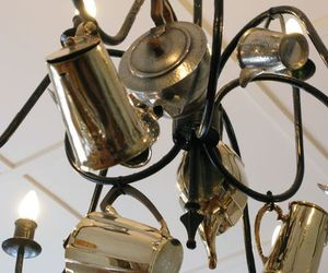 chandelier and teapots image