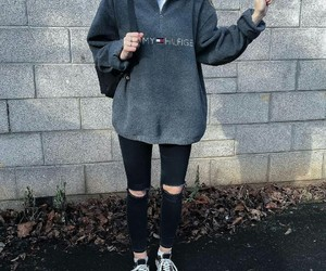 girl, outfit, and sweat image