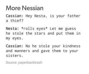 cassian, a court of mist and fury, and nessa image