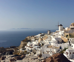 places, santorini, and travelling image