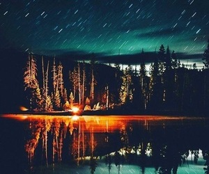 night, stars, and forest image