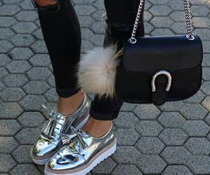 bag, fur, and style image