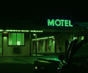 green, motel, and aesthetic image