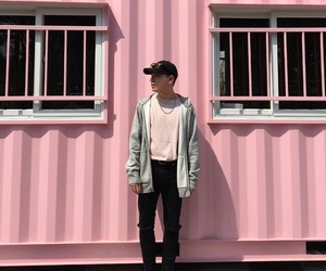 asian, boy, and pink image