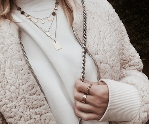 fashion, girl, and necklaces image