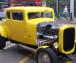 car, cool, and fast hot rod image