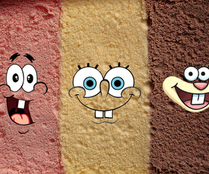 ice cream, patrick, and spongebob image