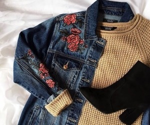 fashion, sweater, and boots image