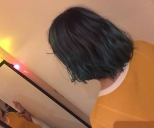 alternative, blue hair, and fairy lights image