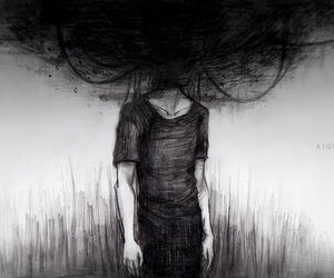 depression, black, and art image