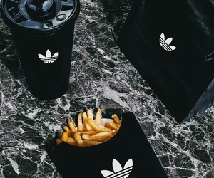 black, chanel, and food image