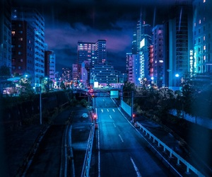 blue, city, and neon image